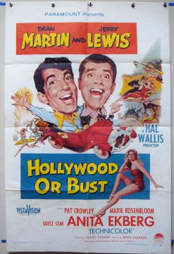 Hollywood or Bust - Dean Martin | Jerry Lewis | US 1sheet Poster
